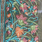 Polyester Wide Jacquard Embroidered Mesh Lace Fabric By The Yard With Colored 3D Flower
