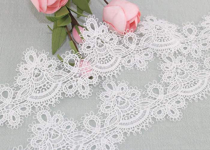 6cm Width Water Soluble Lace Polyester Lace For Clothing Azo Free